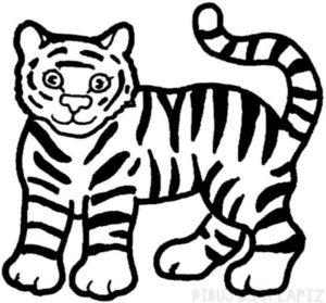Dibujos de tigres para colorear