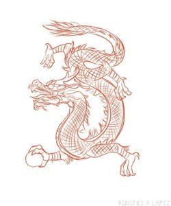 Dragones para imprimir