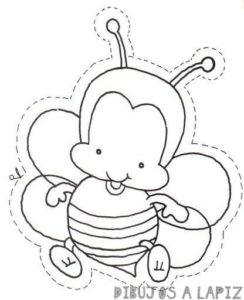 abeja reina dibujo