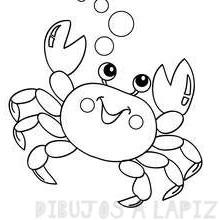 cangrejo para niños de preescolar