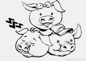 cerdo para dibujar