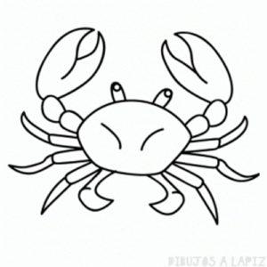 como dibujar un cangrejo facil