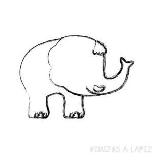 como dibujar un elefante para niños