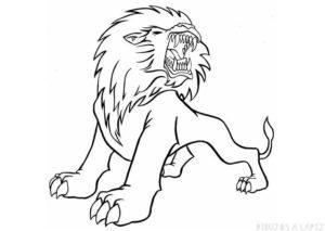 como dibujar un leon para niños