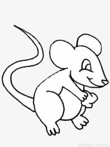 como dibujar un raton para niños