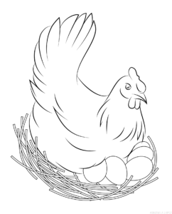 como dibujar una gallina facil