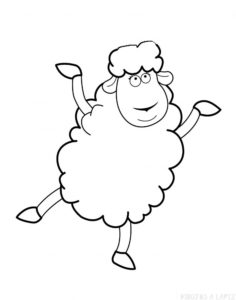 como dibujar una oveja facil