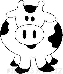 como dibujar una vaca facil para niños