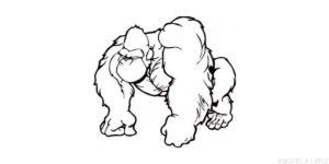 como se dibuja un gorila