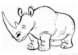 como se dibuja un rinoceronte