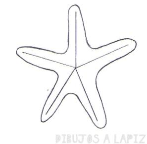 dibujos de estrellas de mar para colorear