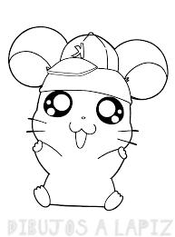 dibujos de hamster para colorear