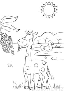 dibujos de jirafas animadas
