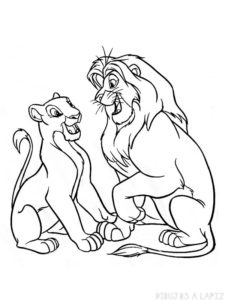 dibujos de leones a lapiz