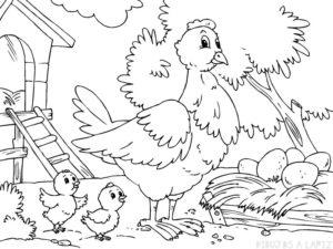 dibujos de pollitos