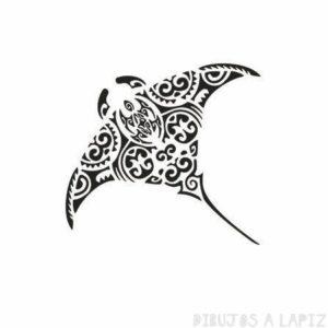 dibujos de rayas de mar