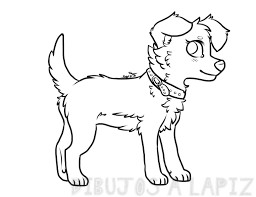 dibujos para pintar de perros cachorros