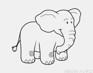 elefante facil de dibujar