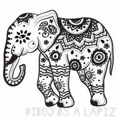 elefante para dibujar