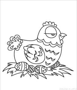 gallina animada