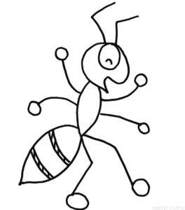 hormigas para dibujar faciles
