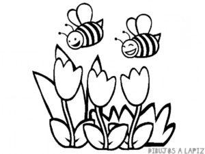 imagenes de abejas para colorear