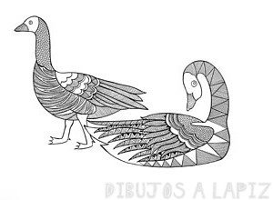 imagenes de gansos volando