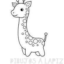 imagenes de jirafas para colorear