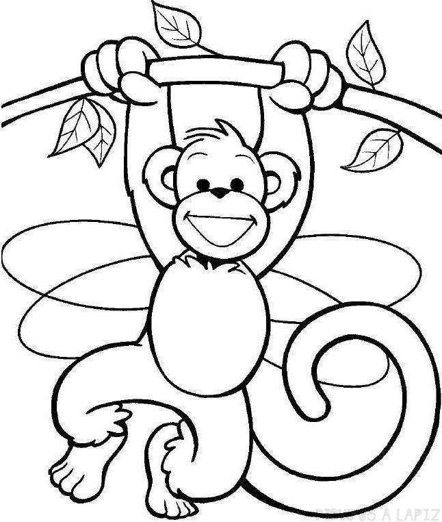 imagenes de monos para colorear