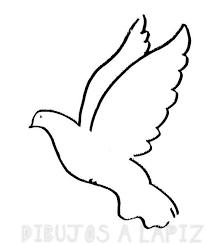 imagenes de palomas para colorear