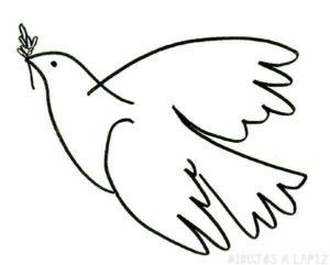 imagenes de palomas para dibujar