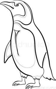 imagenes de pinguinos para dibujar