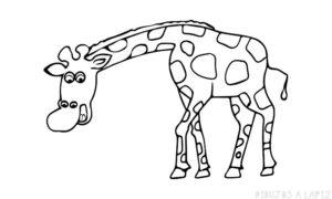 jirafa para dibujar