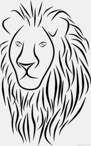 leon dibujo infantil
