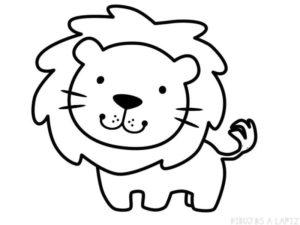 leon facil de dibujar