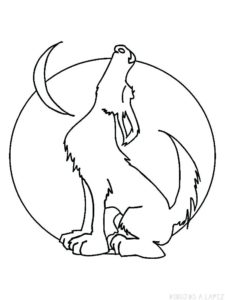 lobo dibujo animado