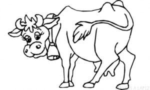 una vaca para colorear