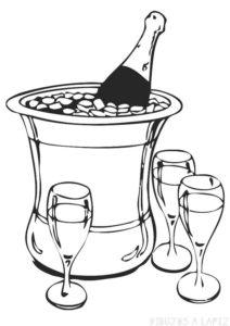 botella de agua para dibujar