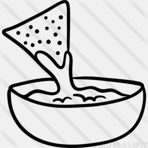 comida chatarra para dibujar
