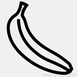como dibujar una banana