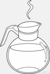 como hacer dibujos en el cafe faciles