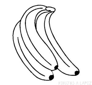 dibujo de banana para colorear