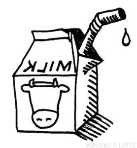 dibujos con leche