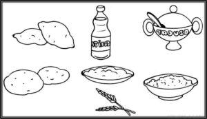 dibujos de alimentos saludables