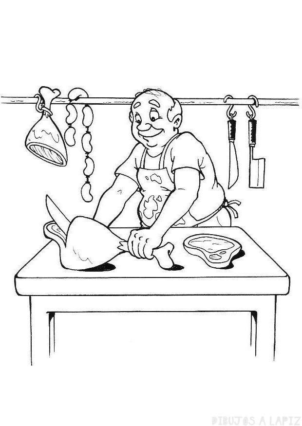 imagenes de carne para colorear