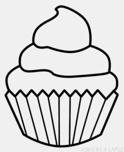 imagenes de cupcakes para dibujar