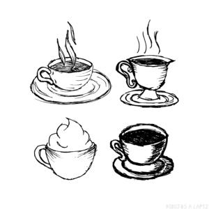 taza de cafe para colorear