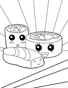 como dibujar sushi scaled