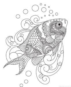 dibujos de pescados para niños scaled