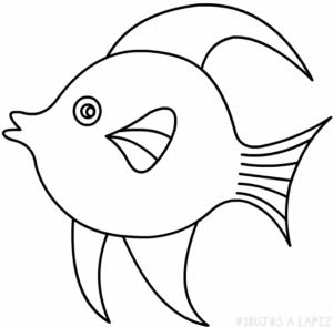 dibujos faciles de pescados